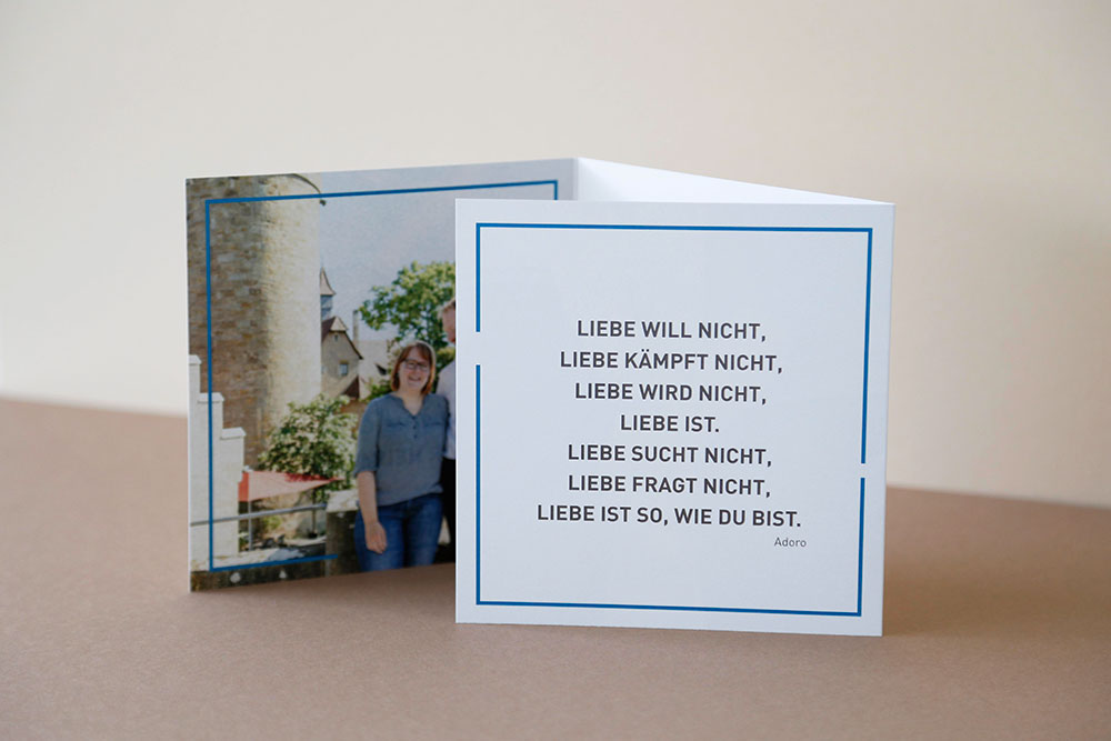 Hochzeitseinladung Karte gedruckt