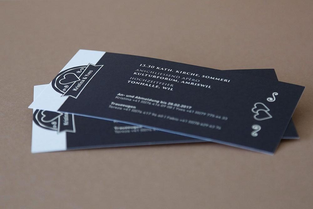 Hochzeitseinladung Flyer gedruckt