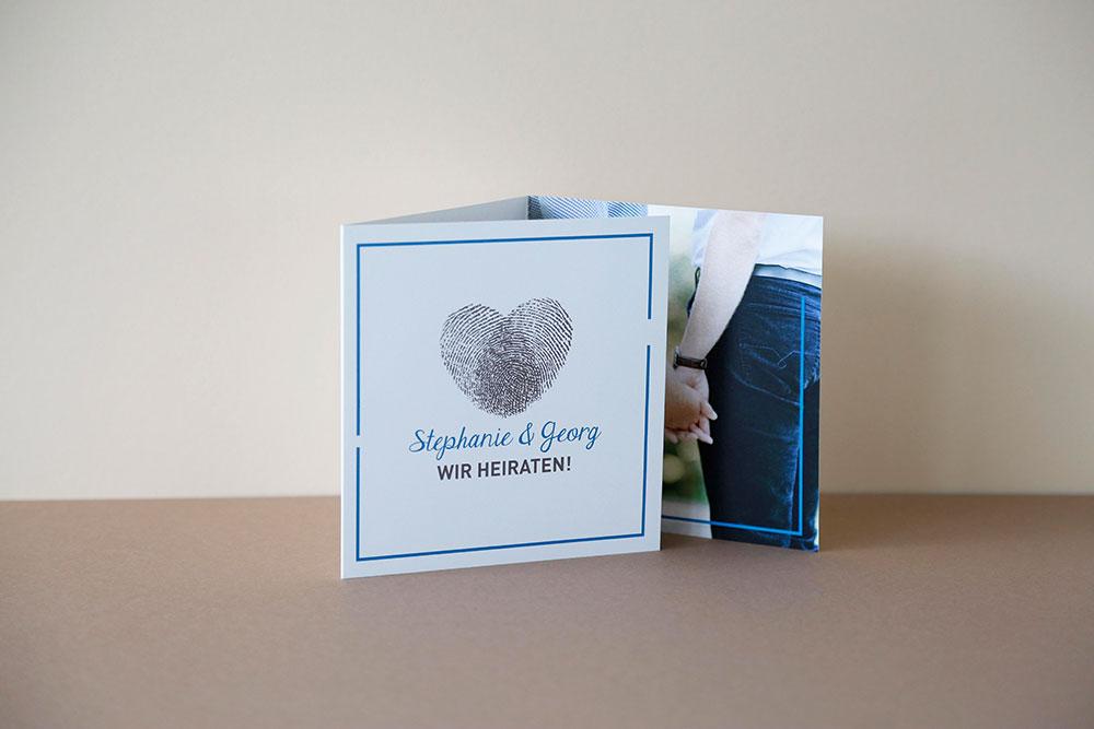 Hochzeits Karte gedruckt