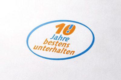 Jubilaeums Logo Bischof Hauswartung