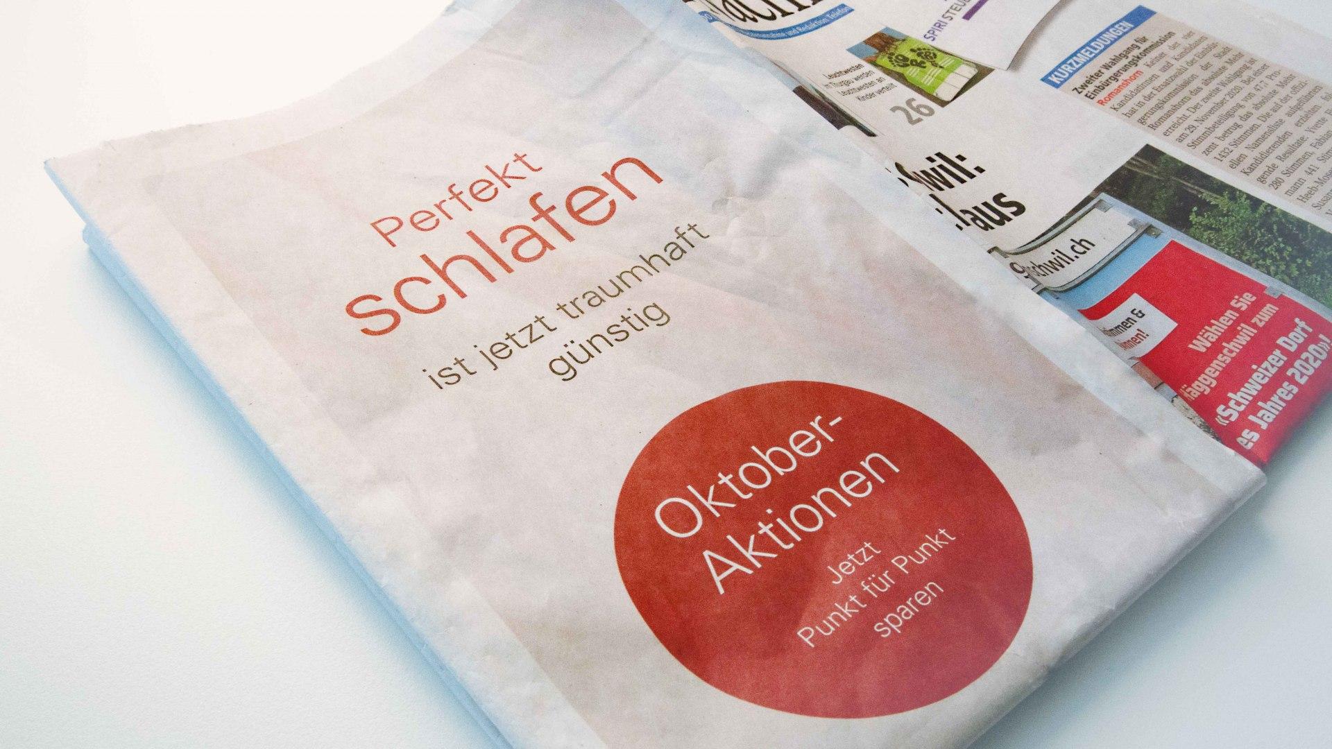 Thönig Bettenhaus: Half-Cover Zeitungsartikel