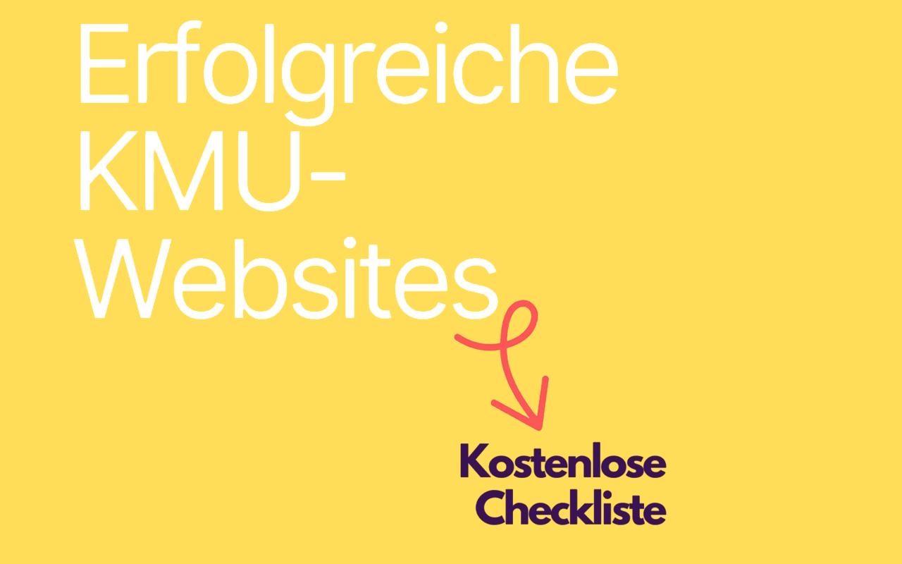 Erfolgreiche KMU-Websites: Kostenlose Checkliste
